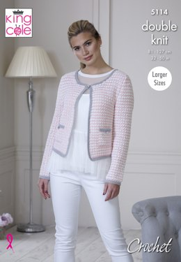 Jacket and Top in King Cole Finesse Cotton Silk DK - 5114 - Leaflet