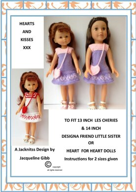 LC06 Hearts & Kisses for 13 and 14inch Dolls