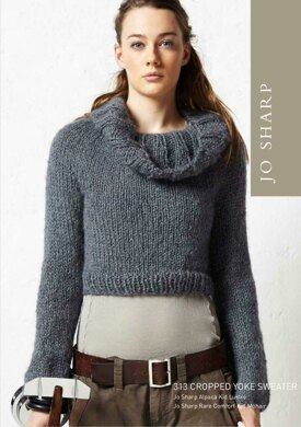 Cropped Yoke Sweater