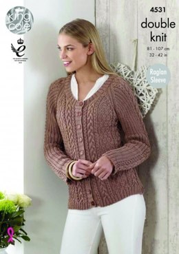 Top and Cardigan in King Cole Giza Cotton DK - 4531 - Leaflet