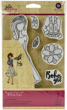 Prima Marketing Julie Nutting Mixed Media Cling Rubber Stamp - Willow