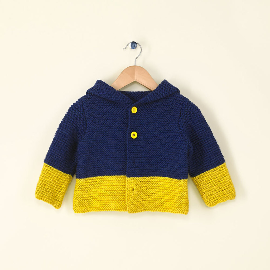 Kid's Hooded Jacket in Main Street Yarns Shiny + Soft