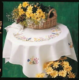 Anchor Freestyle - Spring Garland Tablecloth Embroidery Kit - 80cm x 80cm