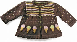 Sugar Cones Baby Cardie in Knit One Crochet Too Babyboo - 1666