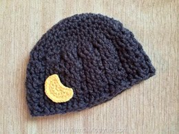 Crochet Crescent Moon Applique Pattern Easy Embellishment
