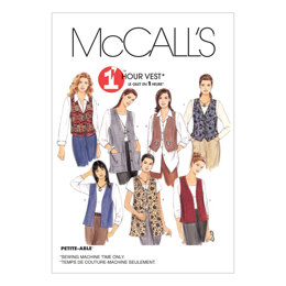 McCall's Misses' Unlined Vests In Two Lengths M2260 - Sewing Pattern
