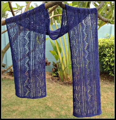 Garden at Nighttime Lace Scarf