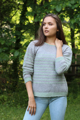 Ridgeline Pullover in Universal Yarn Finn & Rozetti Yarns Alaska - Downloadable PDF
