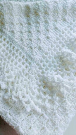 Lacy Baby Afghan/Christening Shawl