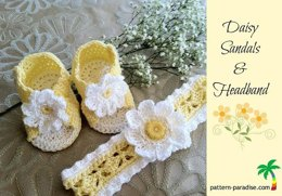 Daisy Sandals & Headband