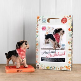 The Crafty Kit Company Miniature Wirehaired Dachshund Needle Felting Kit - 190 x 290 x 94mm