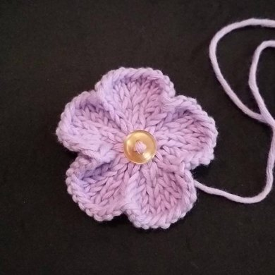 Basic Knitted Flower Knitting Pattern By Adeline Too