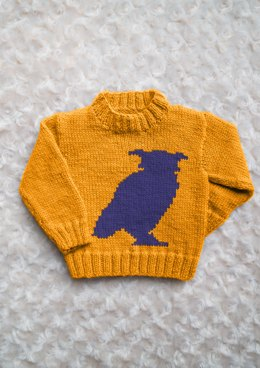 Intarsia - Owl Silhouette Chart - Childrens Sweater