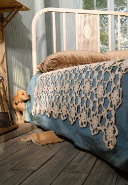 Crochet Coverlet in Blue Sky Fibers Skinny Cotton - Downloadable PDF