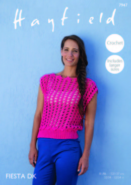 Crochet Top in Hayfield Fiesta DK - 7947 - Leaflet