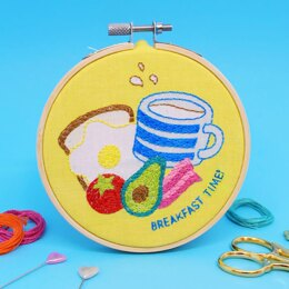 The Make Arcade Mini Embroidery - Breakfast Time - 4in