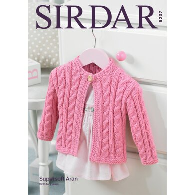 Cardigan in Sirdar Supersoft Aran - 5237 - Downloadable PDF