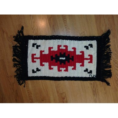 Klagetoh Fringed Throw Crochet Pattern