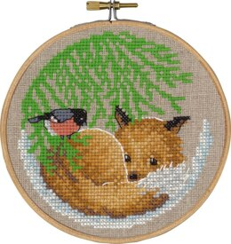 Permin Fox Cross Stitch Kit (with hoop)