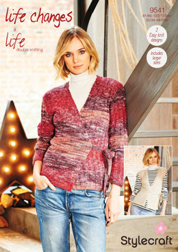 Cardigan and Waistcoat in Stylecraft Life Changes & Life DK- 9541 - Downloadable PDF