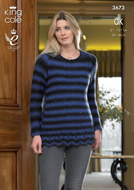 Hoodie and Sweater in King Cole Galaxy DK - 3673