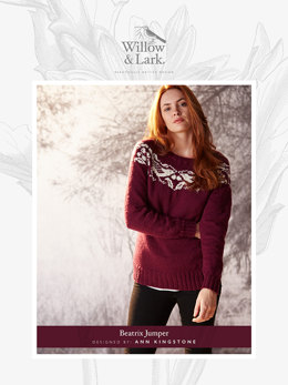 """Beatrix Jumper"" - Sweater Knitting Pattern For Women in Willow and Lark Ramble-4"