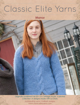 Manor Pullover in Classic Elite Yarns La Gran - Downloadable PDF