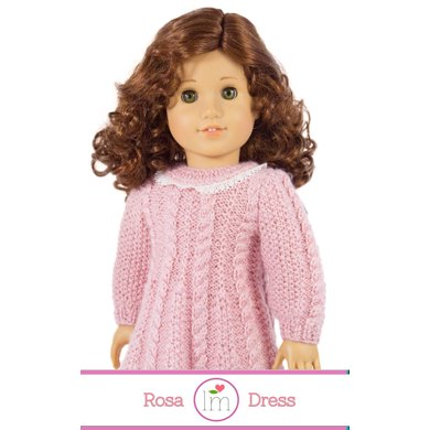 Rosa Dress For 18 Inch Dolls Doll Clothes Knitting Pattern
