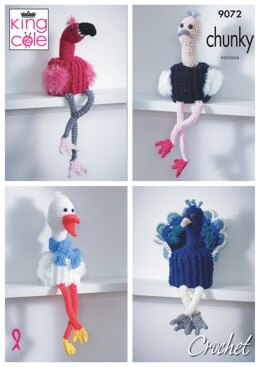 Bird Toilet Roll Holders in King Cole Big Value Chunky - 9072pdf - Downloadable PDF