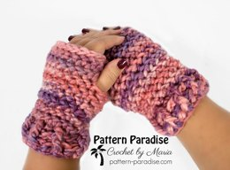 Evermore Fingerless Mittens and Hat