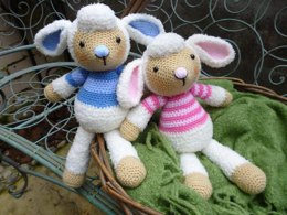 Lulu and Lollo Lamb Amigurumi Crochet Pattern