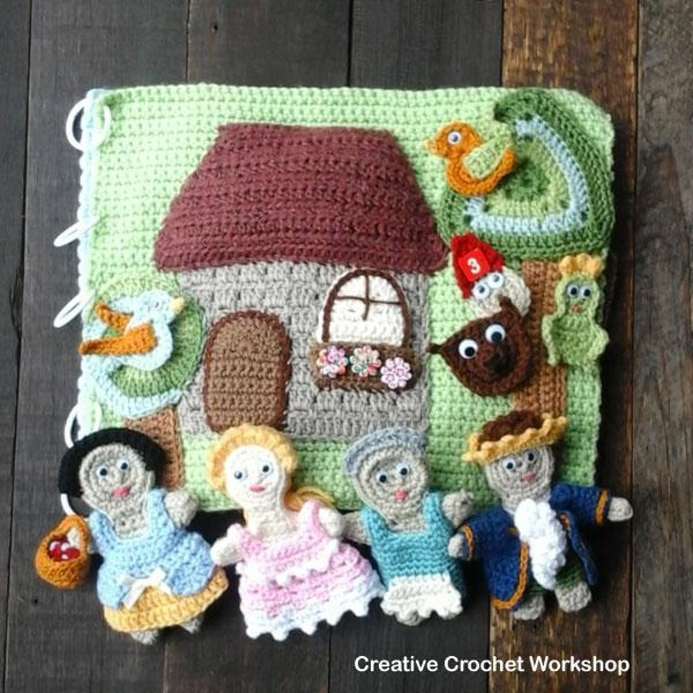 My Interactive Fairy Tale Playbook Crochet Quiet Book