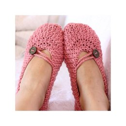 Pretty in Pink Ladies Slippers
