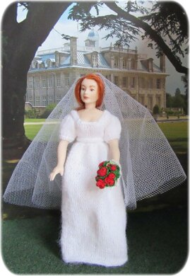 1:12th scale bridal gowns