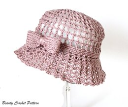 Summer Sun Hat with a Bow