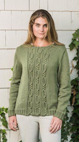 Cable Panel Pullover #190