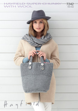 Bag in Hayfield Super Chunky with wool - 7242 - Downloadable PDF