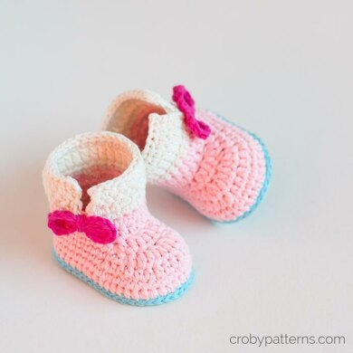 Crochet Baby Unicorn Baby Booties