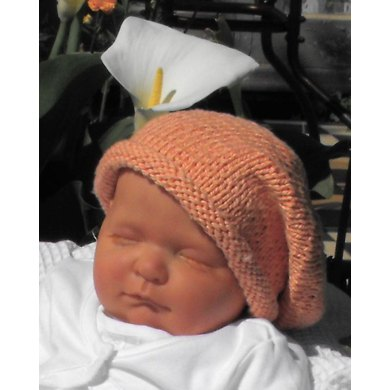 Knit Baby Hats Patterns Roll Brim : Baby Cotton Roll Brim Slouch Beanie Hat Knitting pattern by madmonkeyknits ...