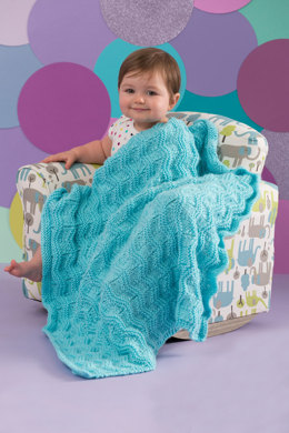 Baby Waves Blanket in Red Heart Soft Baby Steps Solids - LW4592