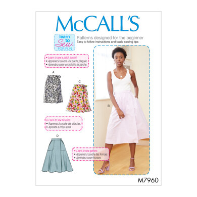 McCall's Misses' Skirts M7960 - Sewing Pattern