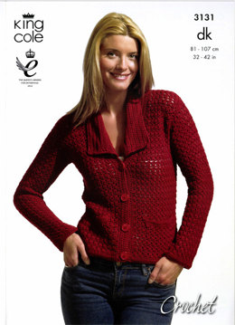 Crochet Jacket and Top in King Cole Bamboo Cotton DK - 3131