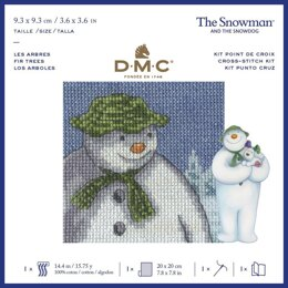 DMC The Snowman - Fir Trees Cross Stitch Kit - 9.3cm x 9.3cm