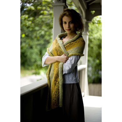 Shore Parkway Wrap in Lion Brand Cotton-Ease - 81074AD