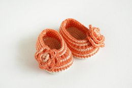 Lovely Orange Crochet Baby Booties