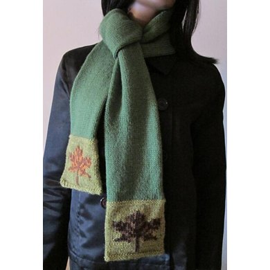 Maple Leaves Scarf