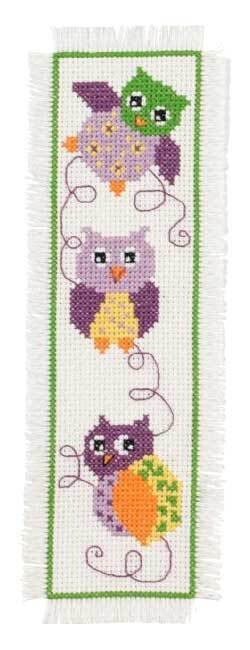 Permin Owls Bookmark Cross Stitch Kit - 7cm x 22cm