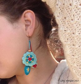 Mandala Flower Earring Beads