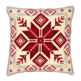 Vervaco Nordic Snowflake Cushion Front Chunky Cross Stitch Kit - 40cm x 40cm