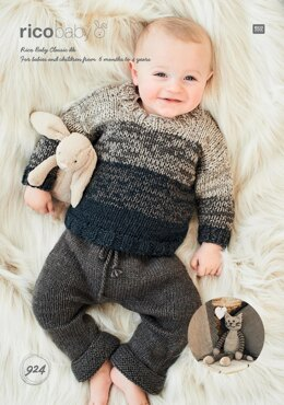 Babies Sweater and Toy in Rico Baby Classic DK - 924 - Downloadable PDF